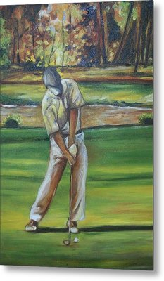 Metal Print featuring the painting Golf Tips by Emery Franklin