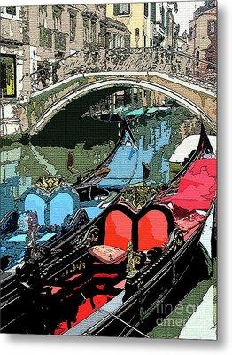 Gondolas Fresco  Metal Print by Mindy Newman