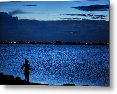 Metal Print featuring the photograph Gone Fishing by Laura DAddona