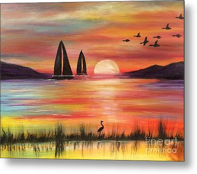 Metal Print featuring the painting Good Eveving by Denise Tomasura