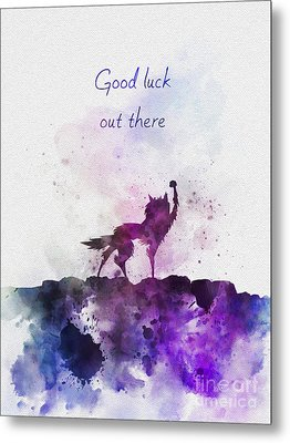 Good Luck Out There Metal Print by Rebecca Jenkins