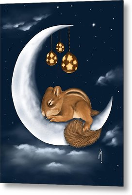 Good Night Metal Print by Veronica Minozzi