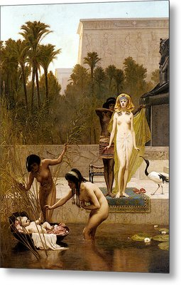 Goodall Frederik The Finding Of Moses Metal Print