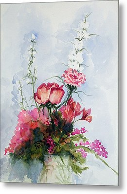 Metal Print featuring the painting Goodbye Bouquet  by Pat Crowther