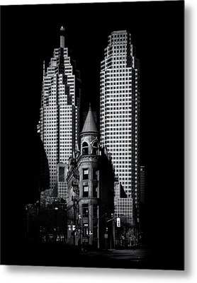 Metal Print featuring the photograph Gooderham Flatiron Building And Toronto Downtown No 2 by Brian Carson