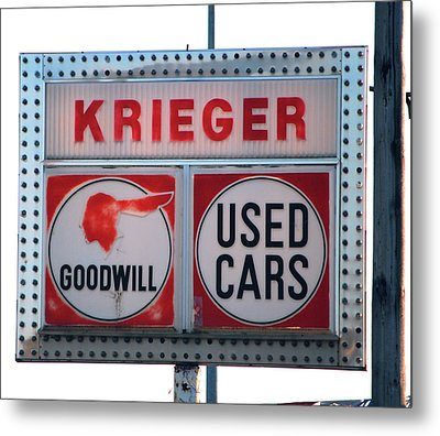 Goodwill Used Cars Metal Print by Jame Hayes