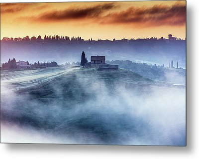 Gorgeous Tuscany Landcape At Sunrise Metal Print by Evgeni Dinev
