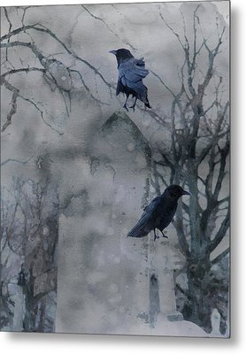 Gothic Gray Wash  Metal Print by Gothicrow Images