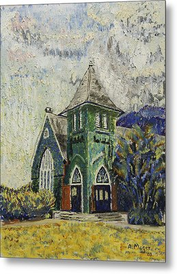 Gothic Green II Metal Print by Alan Mager