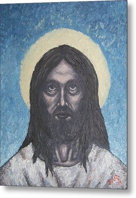 Metal Print featuring the painting Gothic Jesus by Michael  TMAD Finney