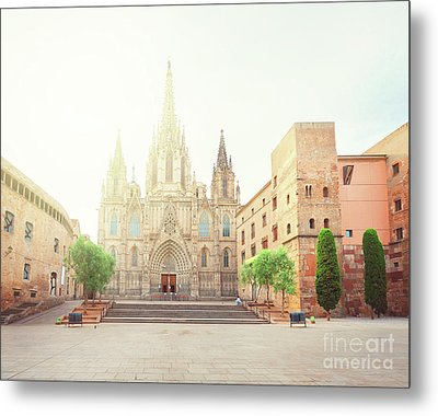 Gotic Cathedral  Of Barcelona Metal Print