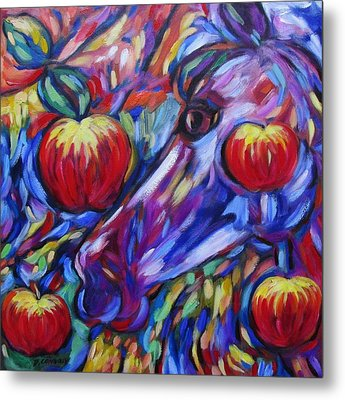 Gotta Luv Them Rosie Apples I Metal Print