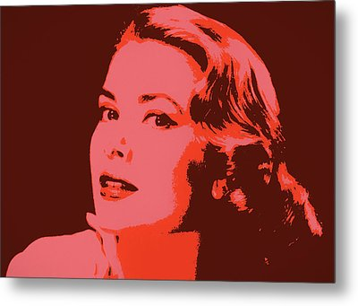 Grace Kelly Pop Art Metal Print