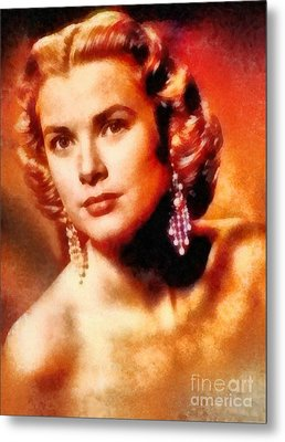 Grace Kelly, Vintage Hollywood Actress Metal Print by Frank Falcon