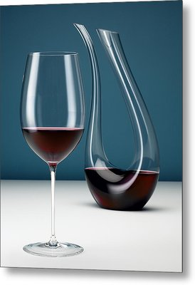 Graceful Merlot Metal Print by Michael Kraus