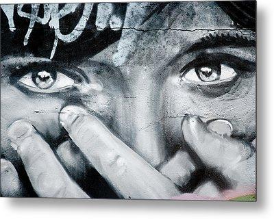 Graffiti Eyes Metal Print by Yurix Sardinelly
