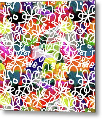 Graffiti Garden 2- Art By Linda Woods Metal Print