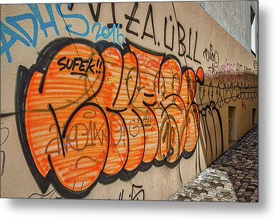 Metal Print featuring the photograph Graffiti In The Alley #2 - Slovenia by Stuart Litoff