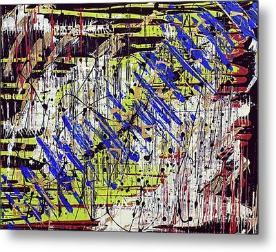 Metal Print featuring the painting Graffitti by Cathy Beharriell