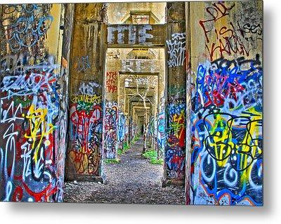 Grafiti Bridge To Nowhere Metal Print by Alice Gipson