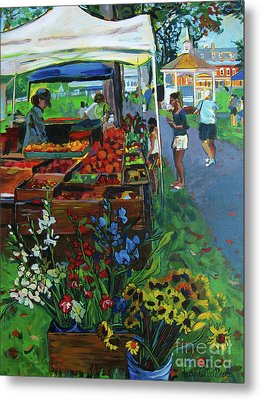 Grafton Farmer's Market Metal Print by Allison Coelho Picone