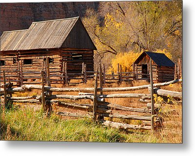 Grafton Homestead Metal Print by Dennis Hammer