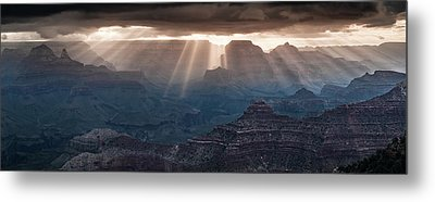 Metal Print featuring the photograph Grand Canyon Morning Light Show Pano by William Lee