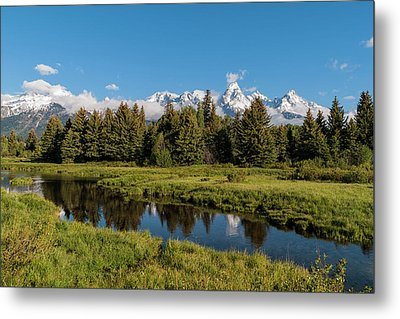 Grand Teton Reflection Metal Print by Brian Harig