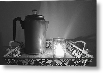Grandmothers Vintage Coffee Pot Metal Print