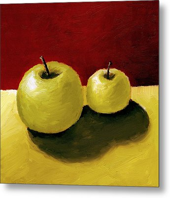Granny Smith Apples Metal Print