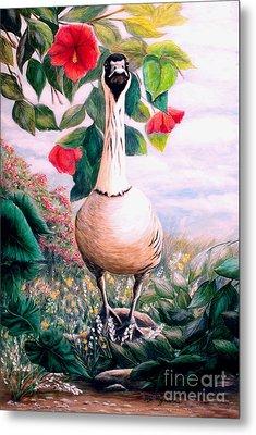 Granny's Goose Metal Print by DiDi Higginbotham