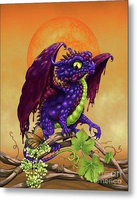 Grape Jelly Dragon Metal Print by Stanley Morrison
