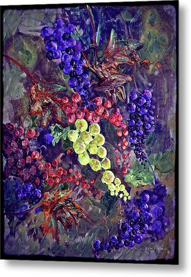 Grapes On The Vine Art 2 Metal Print by Ken Figurski