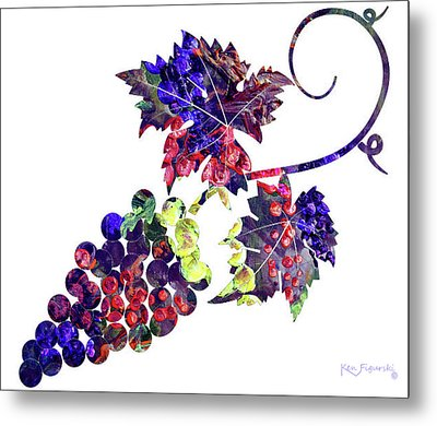 Grapes On The Vine  Metal Print by Ken Figurski