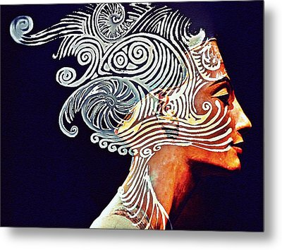 Graphism For Nefertiti Metal Print by Paulo Zerbato