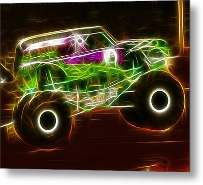 Grave Digger Monster Truck Metal Print by Paul Van Scott