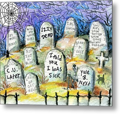 Grave Yard Metal Print by Sylvia Pimental