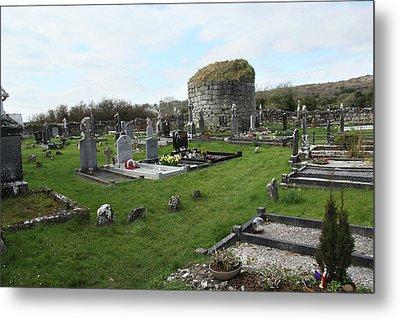 Metal Print featuring the photograph Graveyard Antigua Iglesia De Killinaboy Ireland by Marie Leslie
