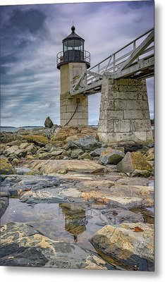 Gray Day At Marshall Point Metal Print