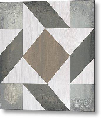 Gray Quilt Metal Print by Debbie DeWitt