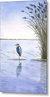 Great Blue Heron Metal Print by Charles Harden