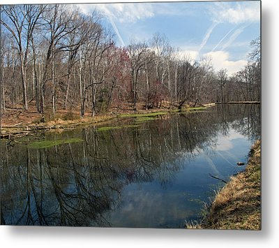 Great Falls Park Along The Towpath - Maryland - C And O Canal Metal Print by Brendan Reals