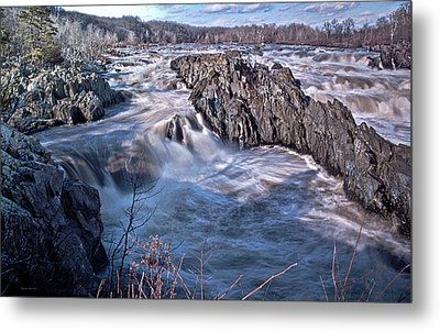 Metal Print featuring the photograph Great Falls Virginia by Suzanne Stout