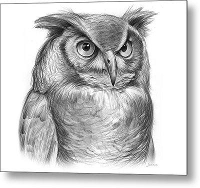 Great Horned Owl Metal Print by Greg Joens