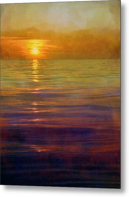Metal Print featuring the digital art Great Lakes Setting Sun by Michelle Calkins