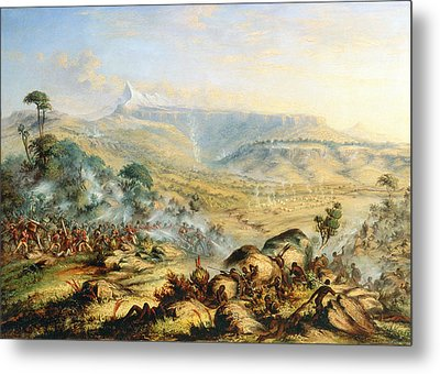 Great Peak Of The Amatola-british-kaffraria  Metal Print by Thomas Baines