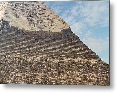 Metal Print featuring the photograph Great Pyramid Of Giza by Silvia Bruno