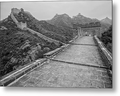 Metal Print featuring the photograph Great Wall 5, Jinshanling, 2016 by Hitendra SINKAR