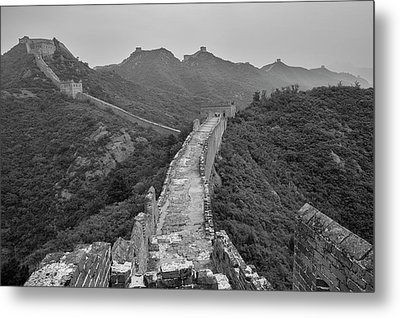 Metal Print featuring the photograph Great Wall 6, Jinshanling, 2016 by Hitendra SINKAR
