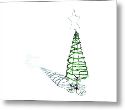 Green Bead Christmas Tree II Metal Print